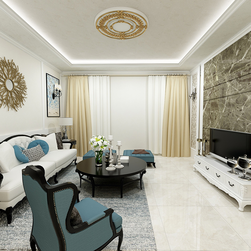 品质洋房欧式风格质感漆施工